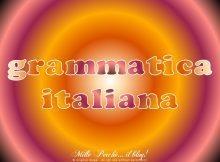 [cat] grammatica italiana